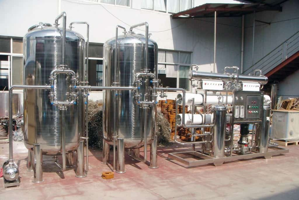 water plant machinery cost